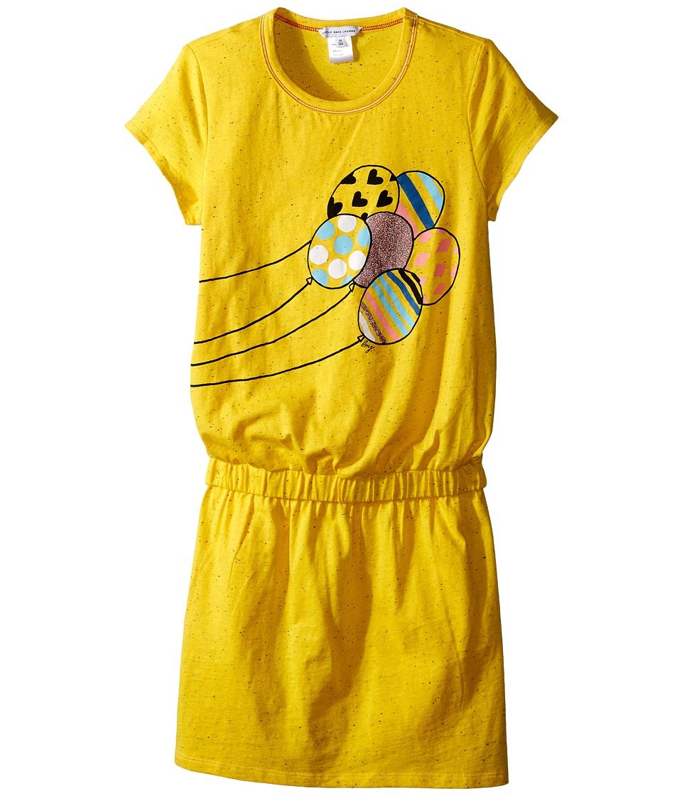 Little Marc Jacobs - Jersey Dress with Balloons (Big Kids) (Yellow) Girl's Dress