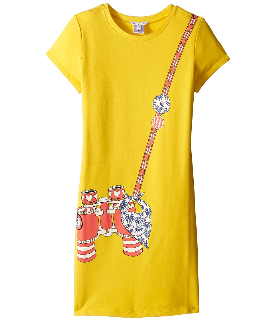 Little Marc Jacobs - Short Sleeve Dress with Fancy Illustration (Little Kids/Big Kids) (Yellow) Girl's Dress