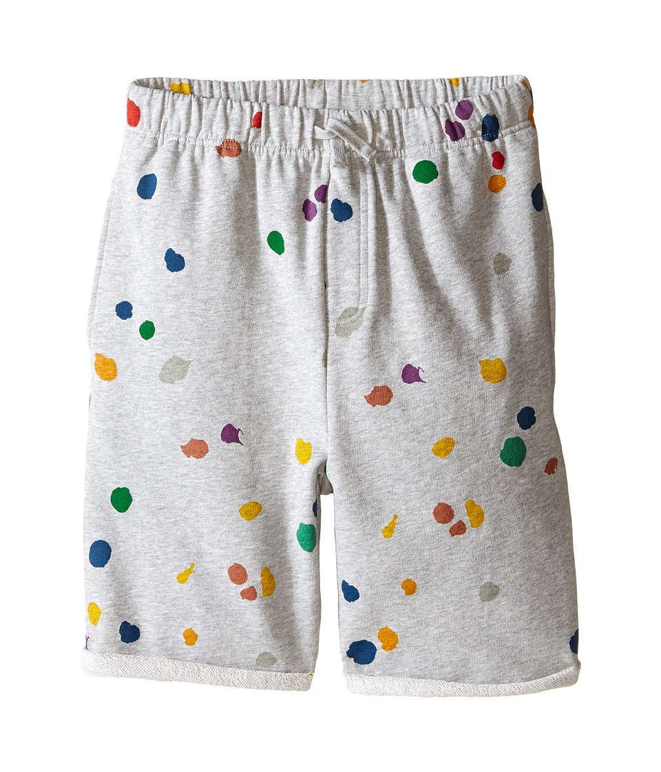 Stella McCartney Kids - Wiley Paint Splatter Knit Shorts (Toddler/Little Kids/Big Kids) (Gray) Boy's Shorts
