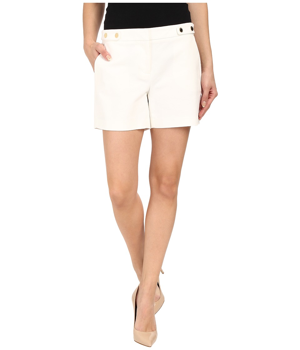 Vince Camuto - Front Zip Shorts w/ Slash Pockets (New Ivory) Women's Shorts