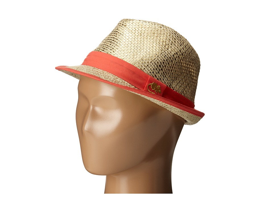 Little Marc Jacobs - Straw Hat with Ribbon (Toddler/Little Kids/Big Kids) (Gold) Caps