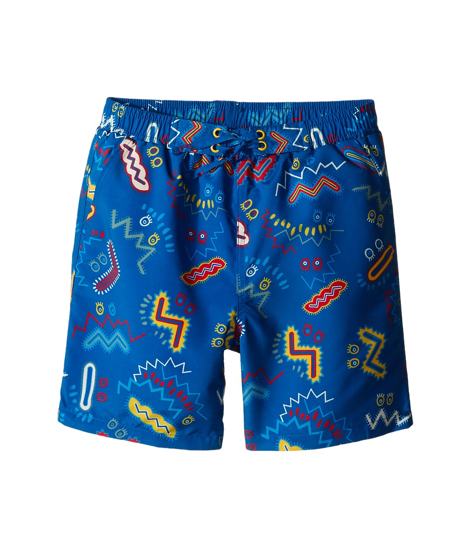 Stella McCartney Kids - Taylor Zigzag Print Swim Trunks (Toddler/Little Kids/Big Kids) (Blue) Boy's Swimwear