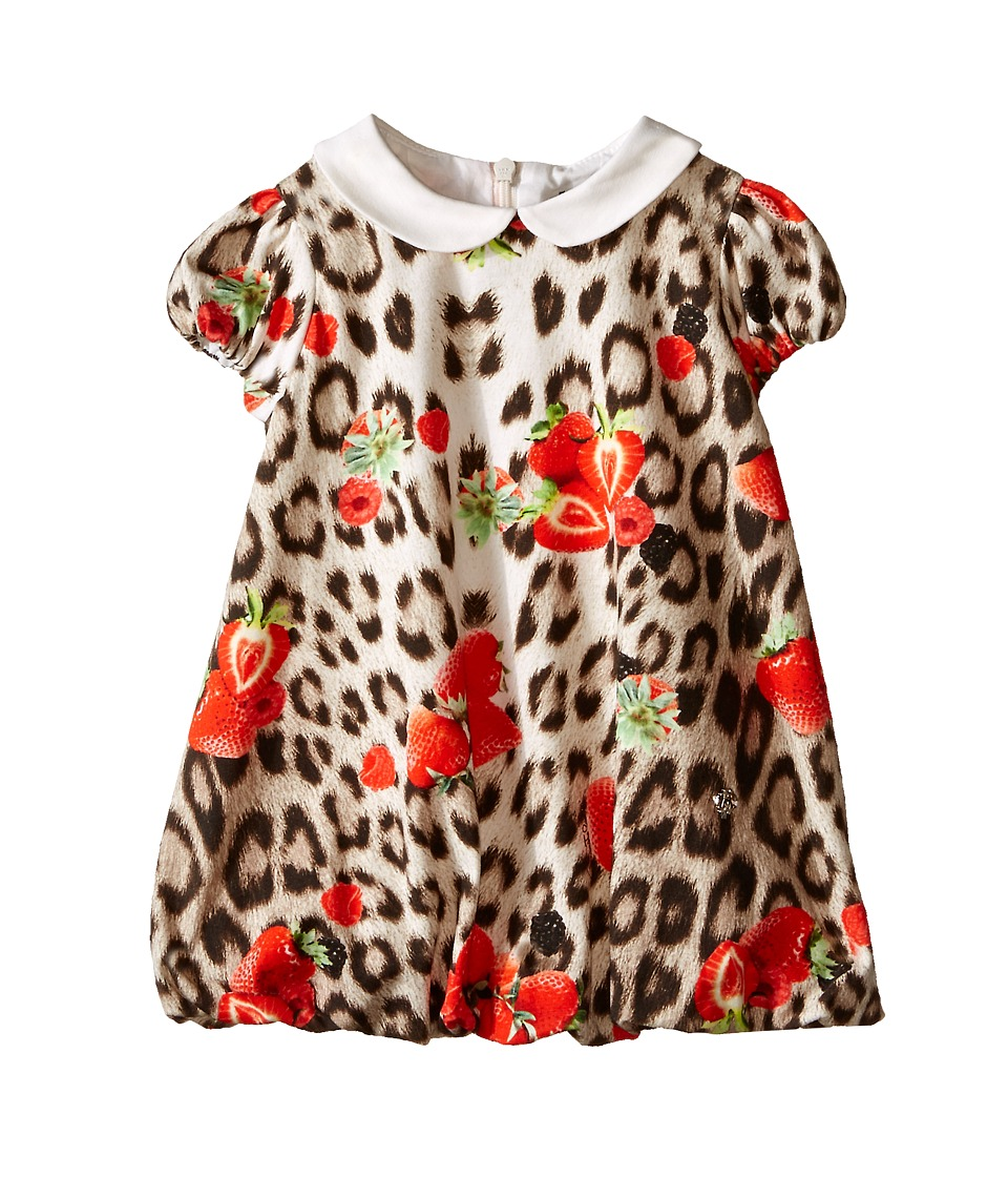 Roberto Cavalli Kids - All Over Print Collared Bubble Dress (Infant) (Leopard Berry) Girl's Dress
