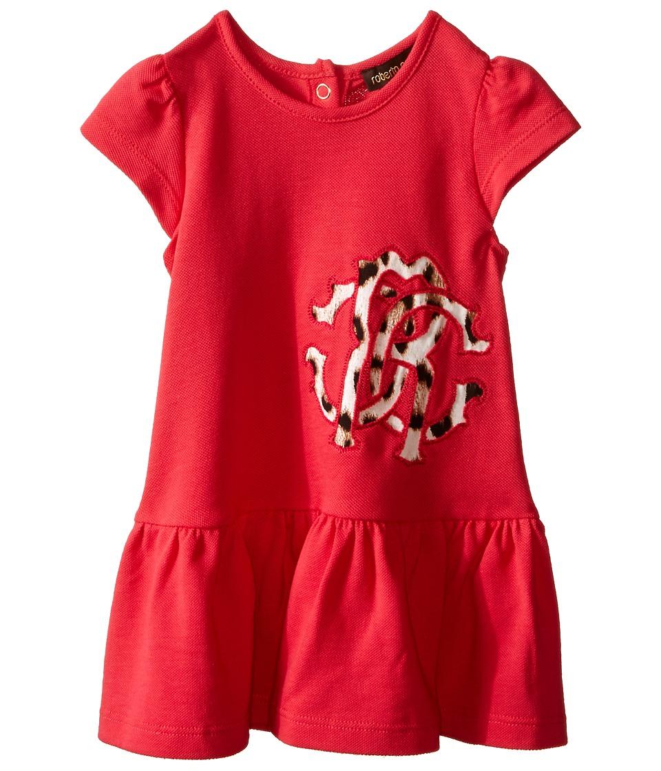 Roberto Cavalli Kids - Short Sleeve Dress w/ Logo Detail (Infant) (Dark Pink) Girl's Dress
