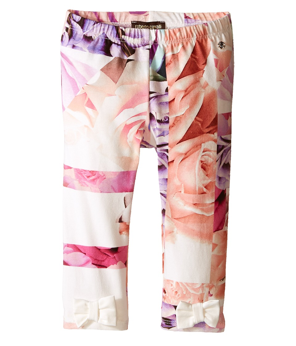 Roberto Cavalli Kids - All Over Printed Leggings with Bows (Infant) (Rose Print) Girl's Casual Pants