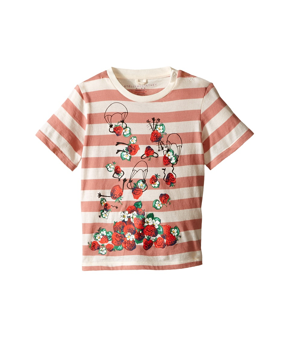 Stella McCartney Kids - Chuckle Short Sleeve Striped Strawberries Tee (Infant) (Pink) Girl's Short Sleeve Pullover