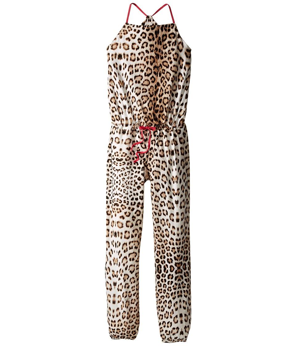 Roberto Cavalli Kids - All Over Print Jumpsuit (Big Kids) (Leopard) Girl's Jumpsuit & Rompers One Piece