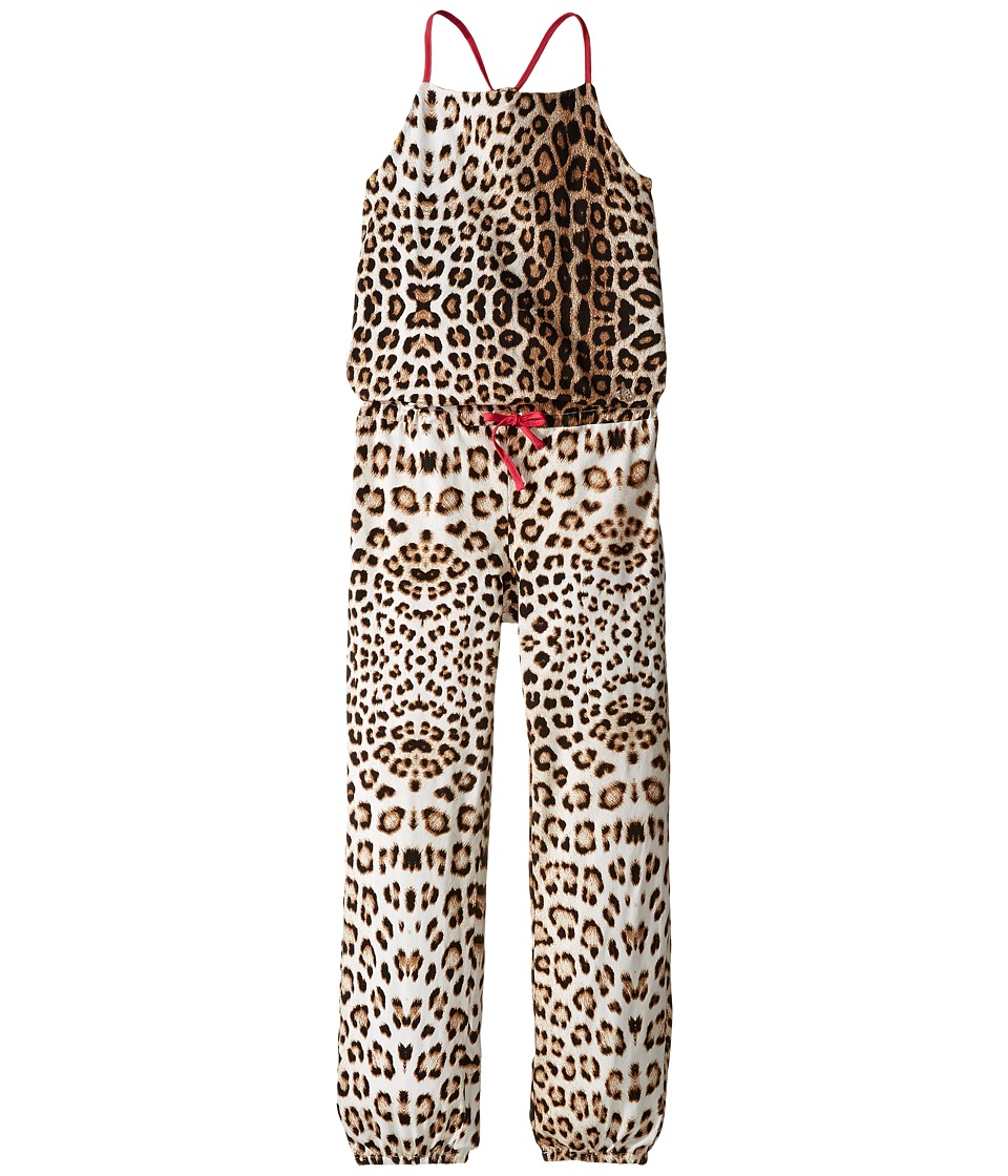Roberto Cavalli Kids - All Over Print Jumpsuit (Big Kids) (Leopard) Girl's Jumpsuit & Rompers One Piece