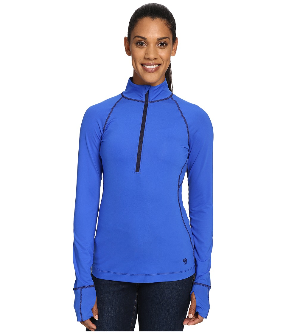 Mountain Hardwear - Butterlicious Long Sleeve 1/2 Zip Top (Bright Island Blue/Indigo) Women's Long Sleeve Pullover