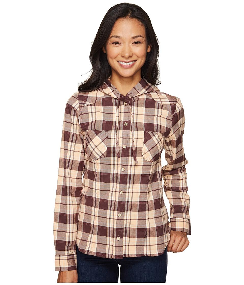 Mountain Hardwear - Stretchstone Hooded Long Sleeve Shirt (Purple Plum) Women's Long Sleeve Button Up