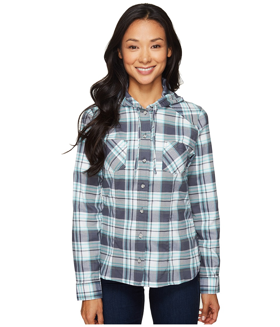 Mountain Hardwear - Stretchstone Hooded Long Sleeve Shirt (Graphite) Women's Long Sleeve Button Up