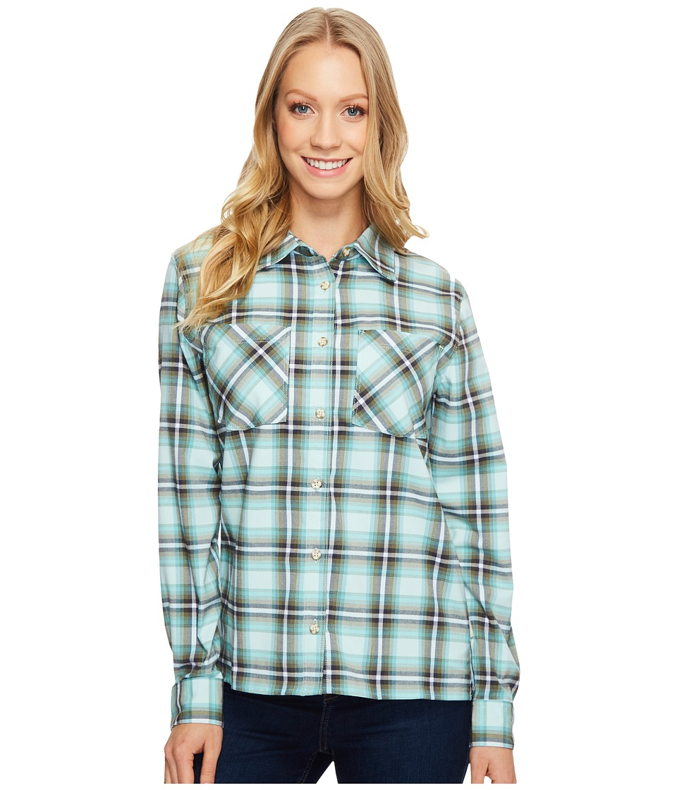 Mountain Hardwear - Stretchstone Boyfriend Long Sleeve Shirt (Gossamer Blue) Women's Long Sleeve Button Up