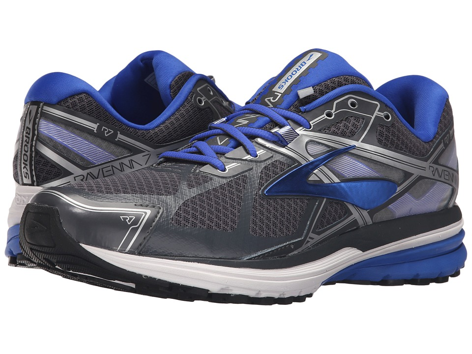 Brooks - Ravenna 7 (Anthracite/Electric Brooks Blue/Silver) Men's Running Shoes