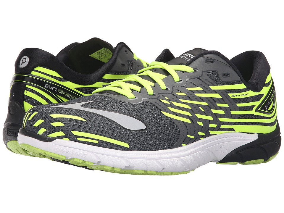 Brooks - PureCadence 5 (Asphalt/Nightlife/Silver) Men's Running Shoes
