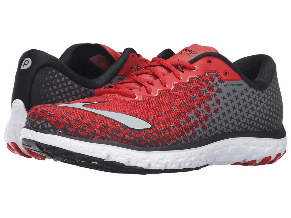 Brooks - PureFlow 5 (High Risk Red/Black/Silver) Men's Running Shoes