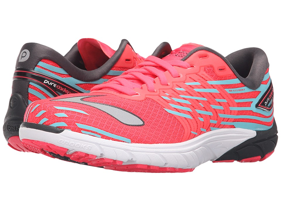 Brooks - PureCadence 5 (Diva Pink/Anthracite/Bluefish) Women's Running Shoes