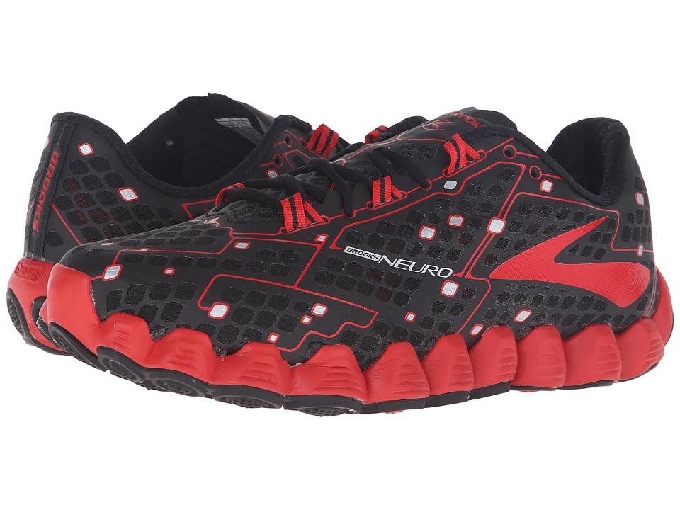 Brooks - Neuro (Black/High Risk Red) Men's Running Shoes