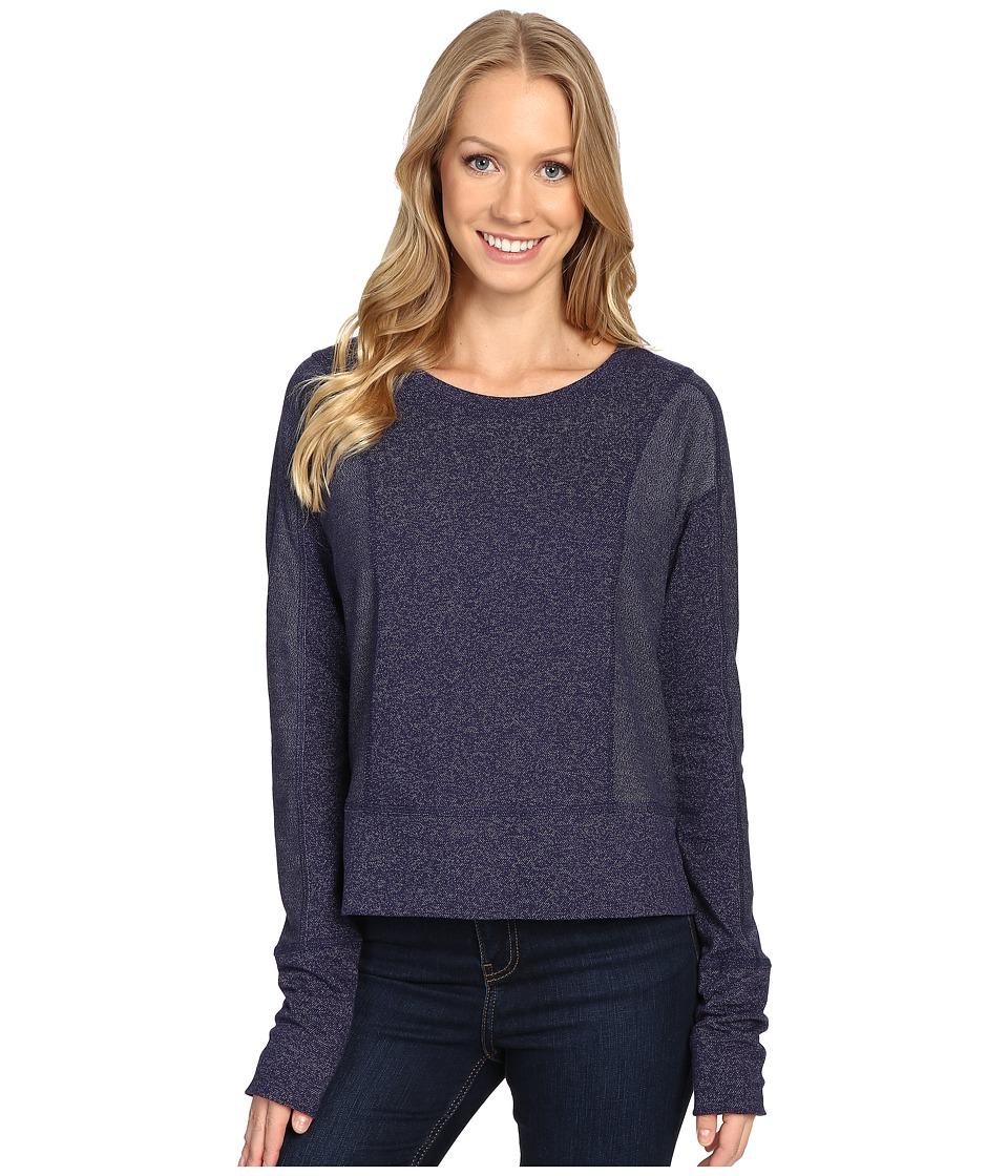 Mountain Hardwear - Shadow Knit Crew Long Sleeve Shirt (Indigo Blue) Women's Clothing