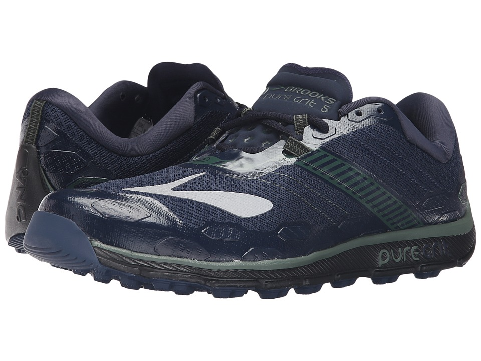 Brooks - PureGrit 5 (Dress Blues/Duck Green/Black) Men's Running Shoes