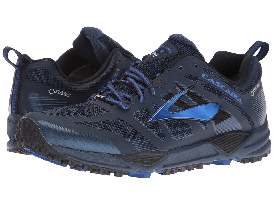 Brooks - Cascadia 11 GTX (Dress Blues/Electric Brooks Blue/Black) Men's Running Shoes