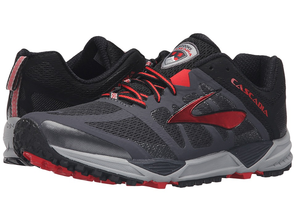 Brooks - Cascadia 11 (Anthracite/Black/High Risk Red) Men's Running Shoes
