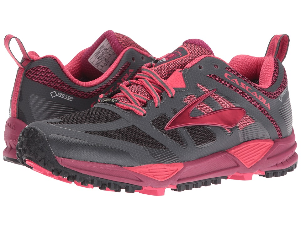 Brooks - Cascadia 11 GTX (Anthracite/Teaberry/Raspberry Radiance) Women's Running Shoes