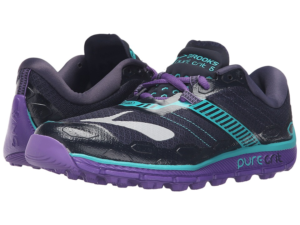 Brooks - PureGrit 5 (Peacoat/Passion Flower/Ceramic) Women's Running Shoes