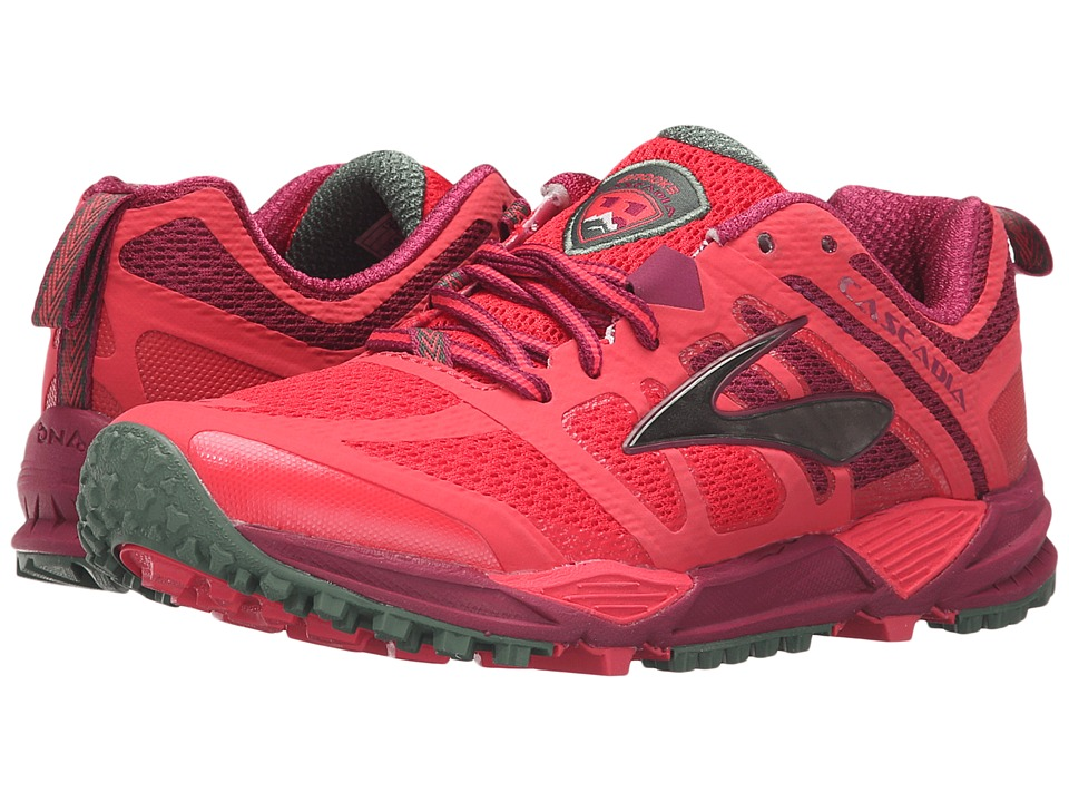 Brooks - Cascadia 11 (Teaberry/Duck Green/Raspberry Radiance) Women's Running Shoes