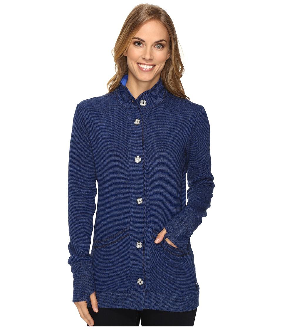 Mountain Hardwear - Sarafin Long Sleeve Cardigan (Bright Island Blue) Women's Sweater