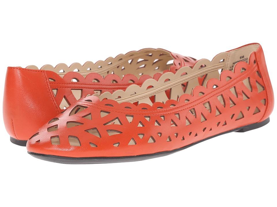 Nine West - Mazzota (Red Orange Leather) Women