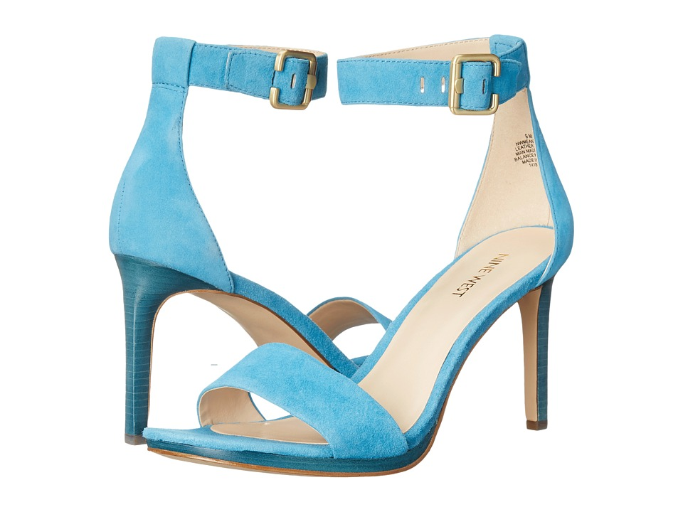 Nine West - Meantobe (Turquoise Suede) Women's 1-2 inch heel Shoes