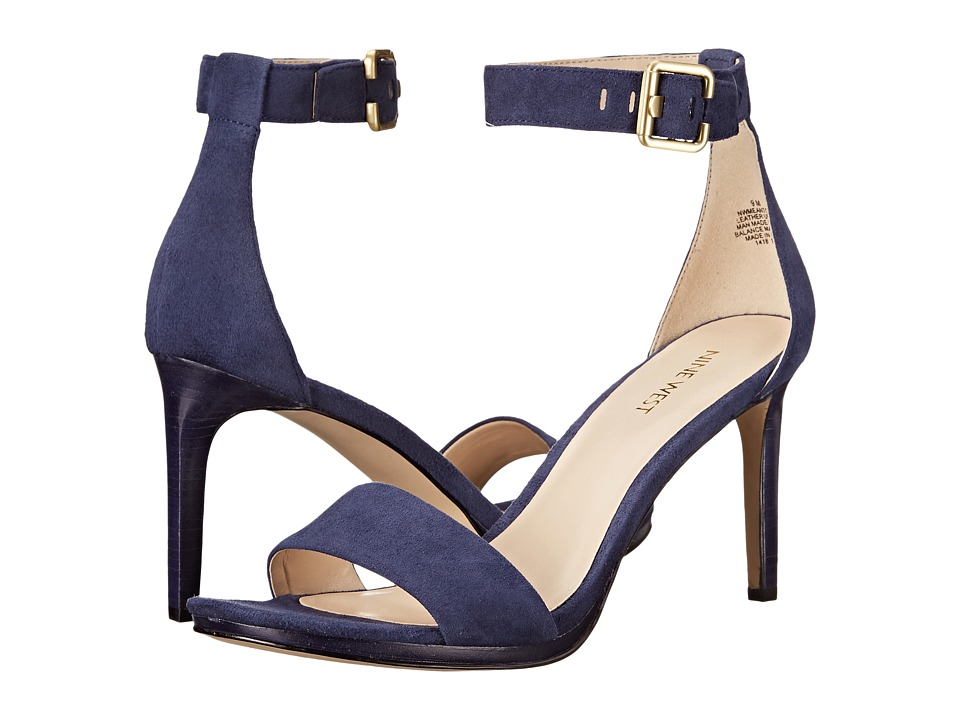 Nine West - Meantobe (Navy Suede) Women's 1-2 inch heel Shoes