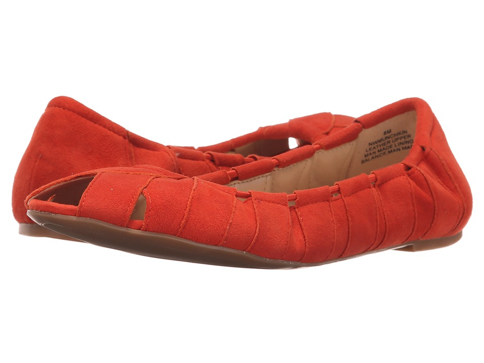 Nine West - Munchkin (Red Orange Suede) Women's Shoes