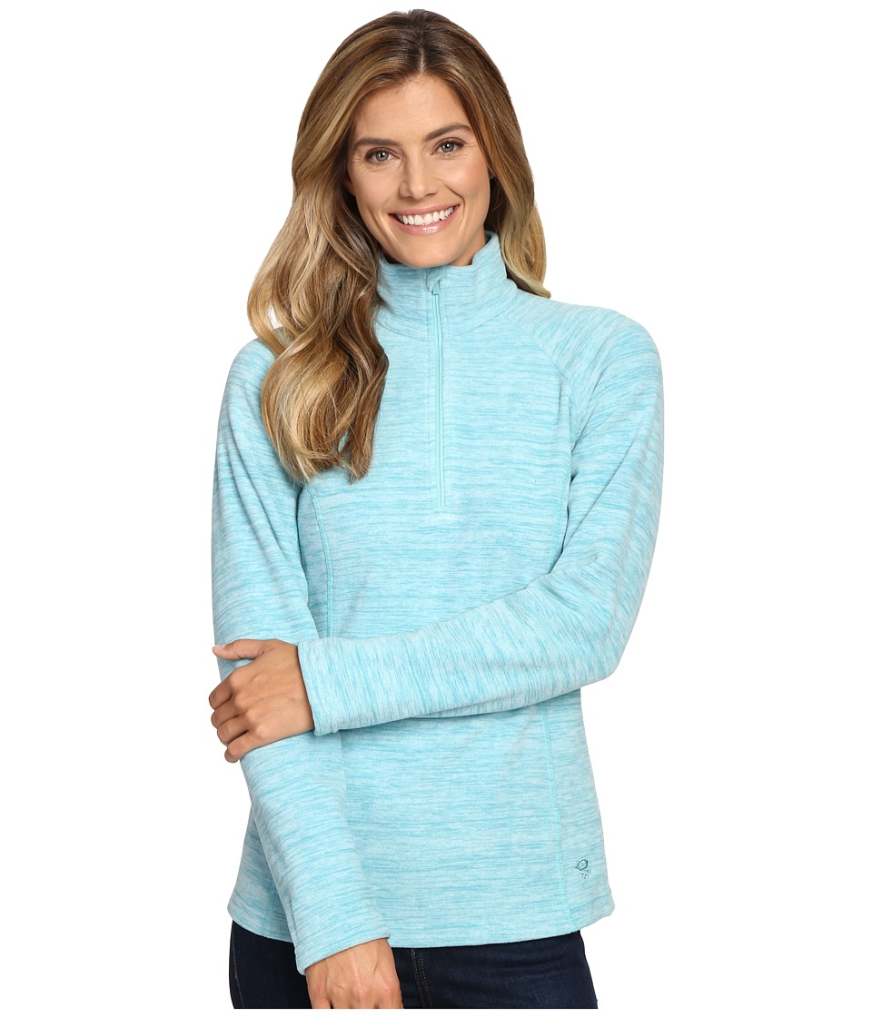 Mountain Hardwear - Snowpass Fleece Zip Tee (Heather Spruce Blue) Women's Long Sleeve Pullover