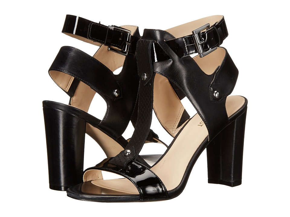 Nine West - Naela (Black/Black/Black Leather) High Heels