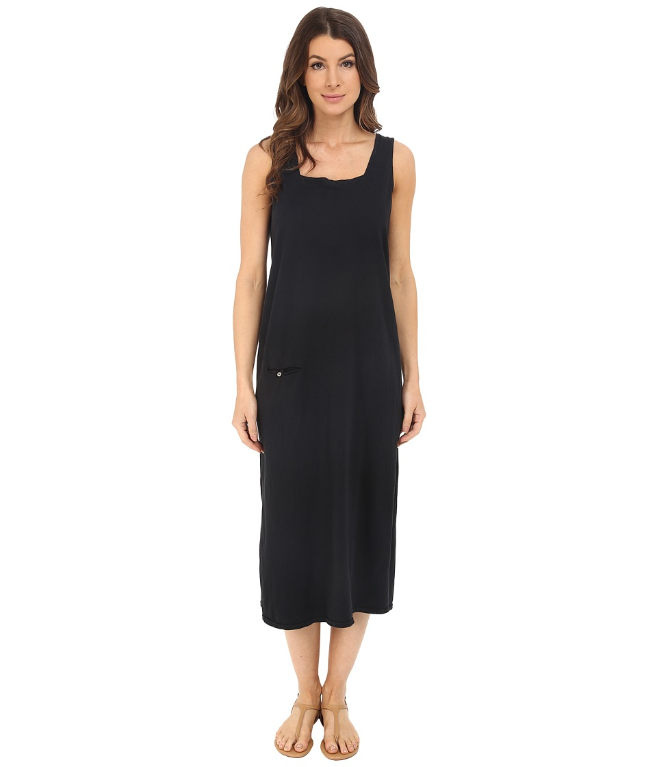 Fresh Produce - Square Neck Long Dress (Black) Women's Dress