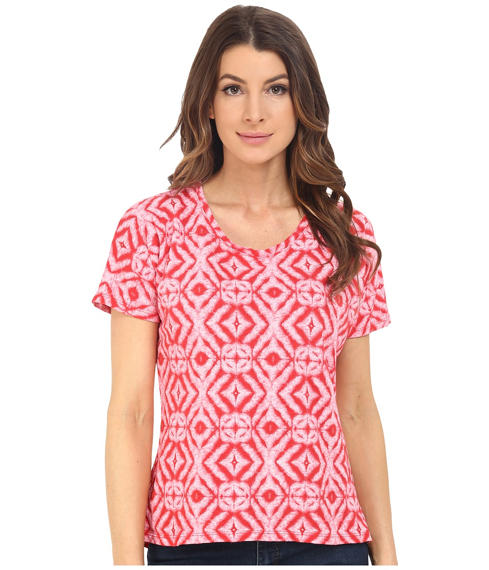 Fresh Produce - Shibori Hannah Tee (Barn Red) Women's T Shirt