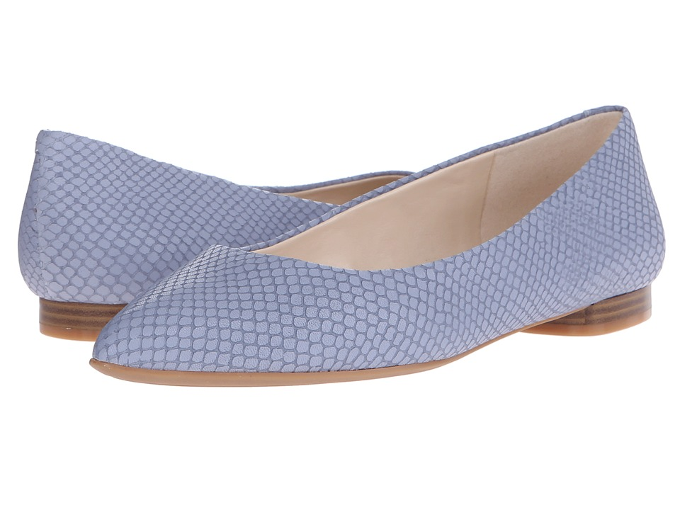 Nine West - Onlee (Medium Blue Leather) Women's Shoes