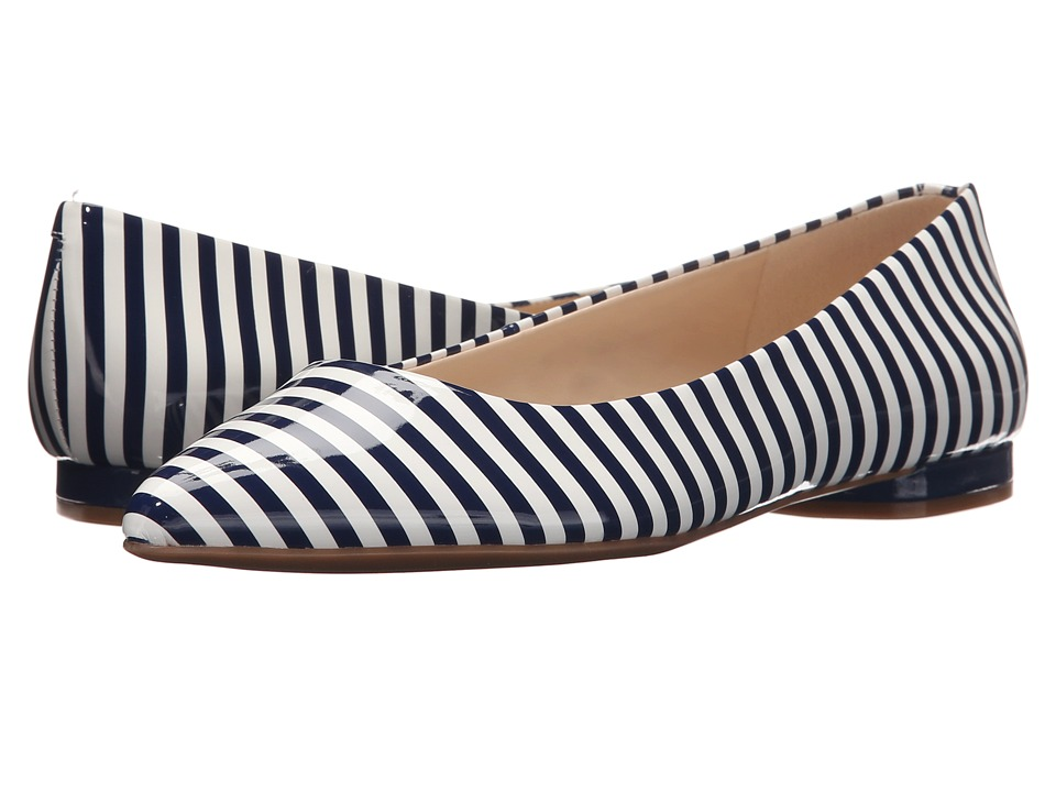 Nine West - Onlee3 (White/Navy Synthetic) Women's Shoes