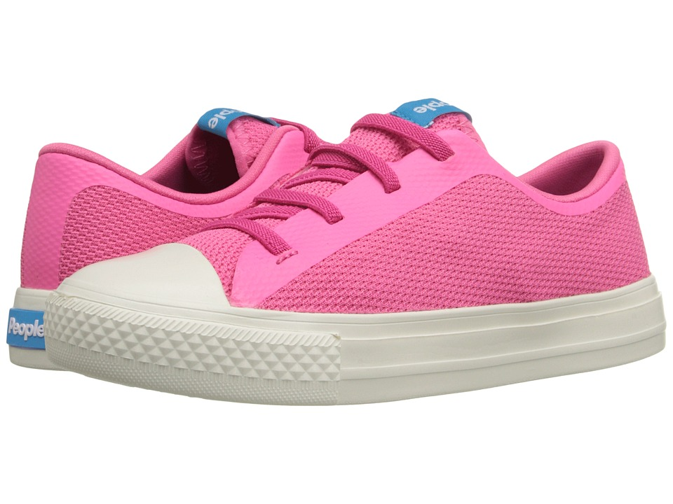 People Footwear - Phillips (Little Kid) (Playground Pink/Picket White) Women's Lace up casual Shoes