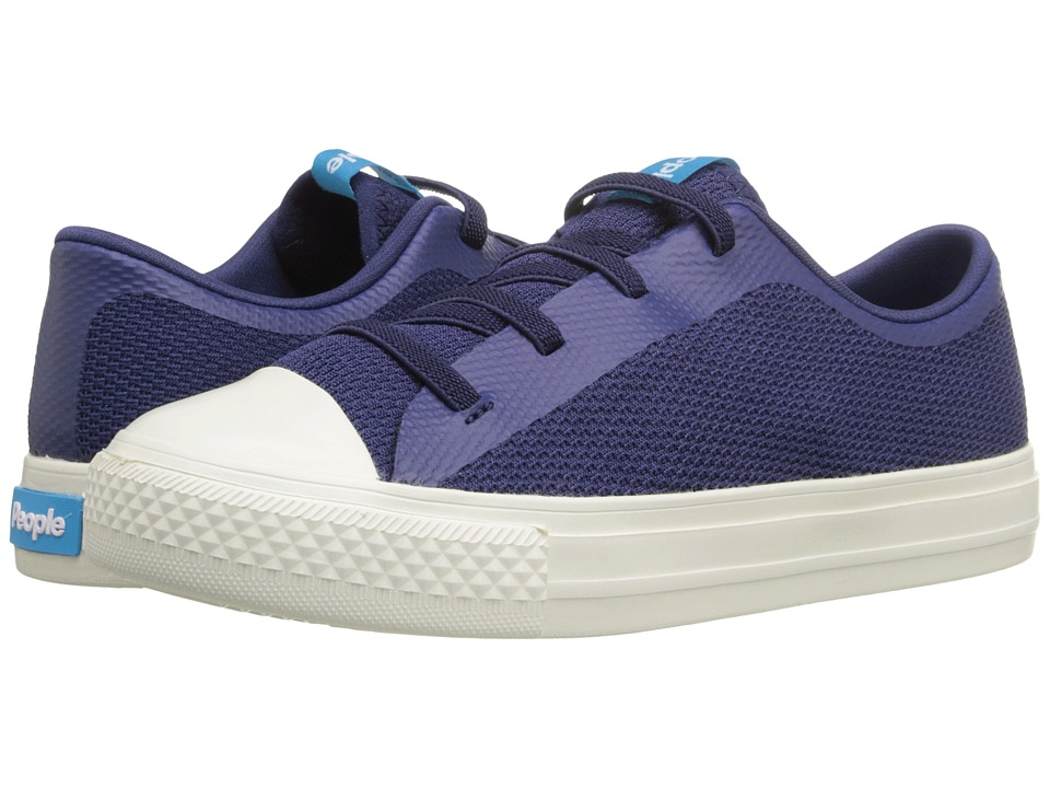 People Footwear - Phillips (Little Kid) (Mariner Blue/Picket White) Lace up casual Shoes