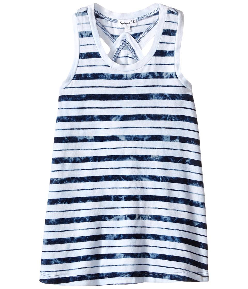 Splendid Littles - Indigo Striped Dye Dress (Toddler) (Stripe) Girl's Dress