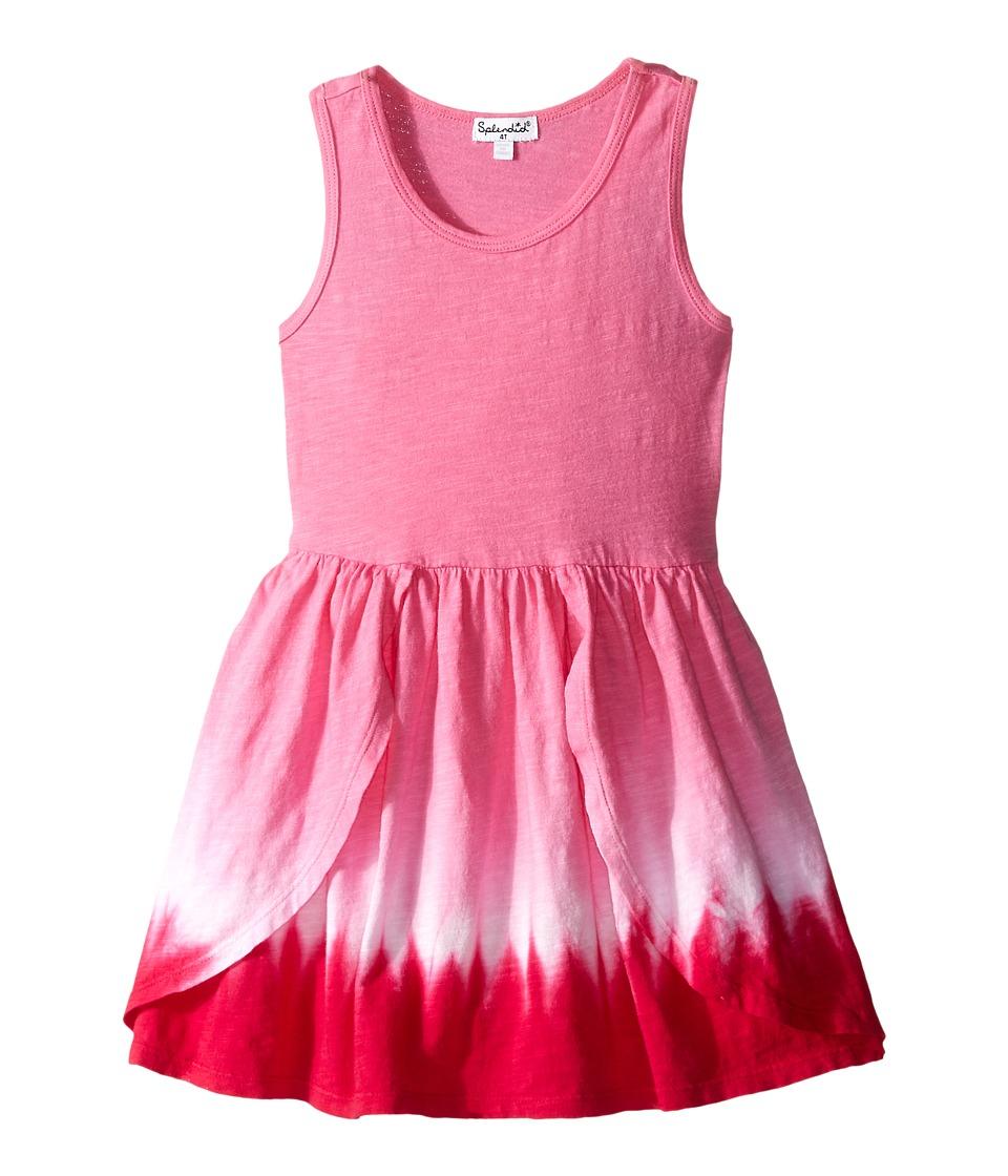Splendid Littles - Dip Dye Racer Tank Dress (Toddler) (Pink) Girl's Dress