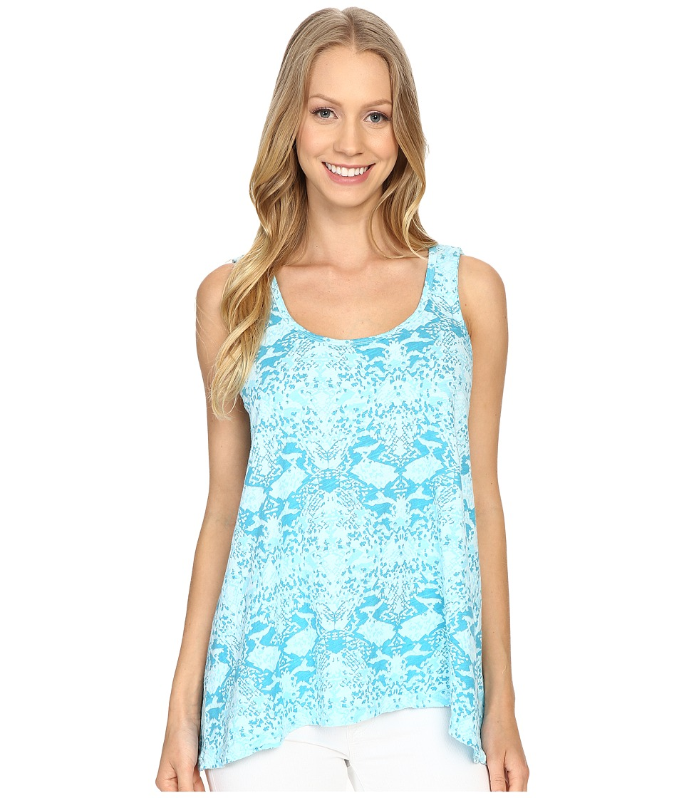 Fresh Produce - Gecko Crossback Tank Top (Swimming Pool) Women's Sleeveless