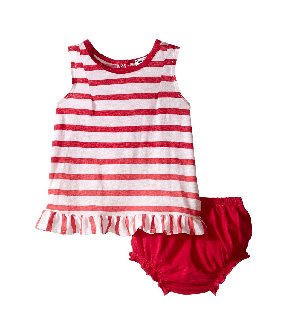 Splendid Littles - Striped Slub Jersey Shorts Set (Infant) (Dark Pink) Girl's Active Sets