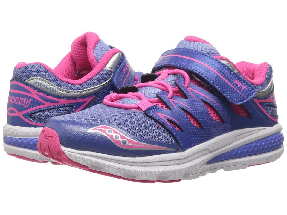 Saucony Kids - Zealot 2 A/C (Little Kid) (Periwinkle/Pink) Girls Shoes