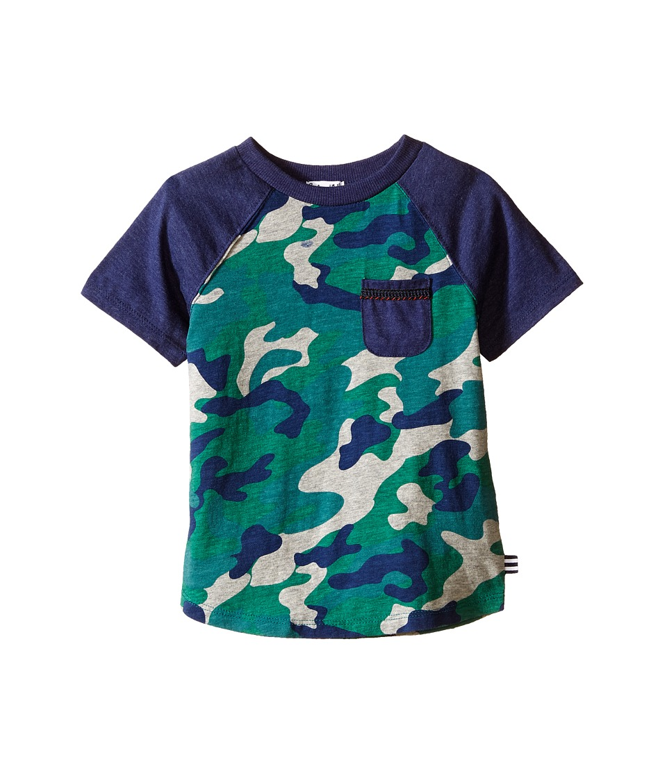Splendid Littles - Short Sleeve Raglan Tee with Camo (Toddler) (Print) Boy's Short Sleeve Pullover