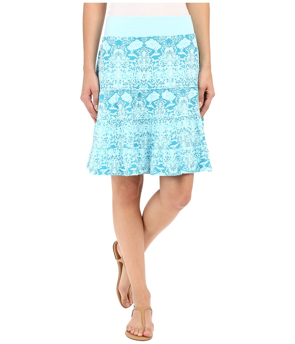 Fresh Produce - Gecko Jersey Tier Skirt (Swimming Pool) Women's Skirt