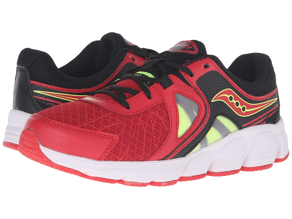 Saucony Kids - Kotaro 3 (Big Kid) (Red/Black/Citron) Boys Shoes