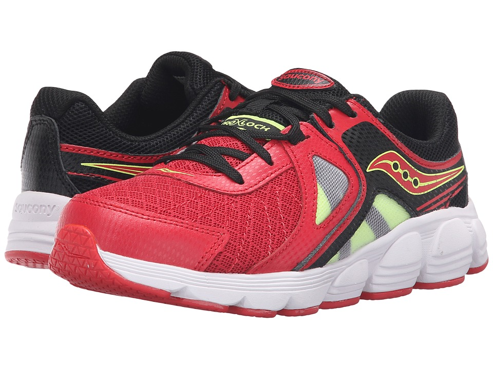 Saucony Kids - Kotaro 3 (Little Kid) (Red/Black/Citron) Boys Shoes